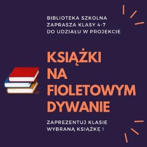 książkiNA FIOLETOWYM DYWANIE (Large)