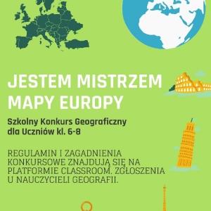 plakat- konkurs- jestem mistrzem mapy Europy